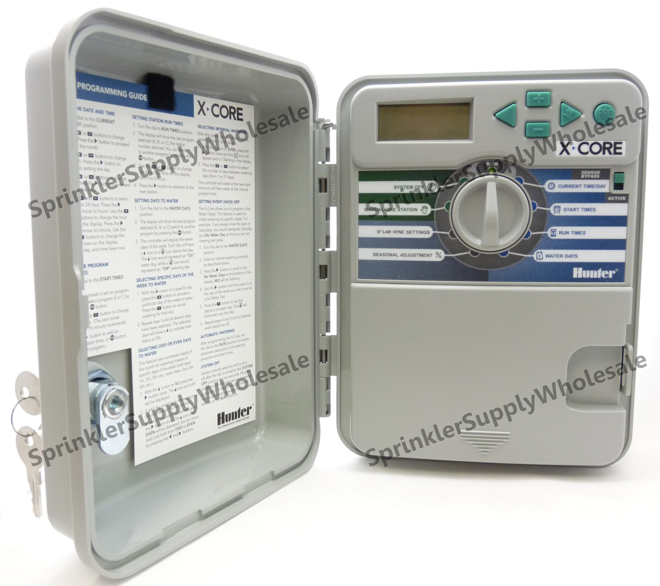 Hunter X Core Outdoor Controller Timer 4 6 Or 8 Stations 120v Xcore On Pendant Station Wiring Diagram Zone Clock